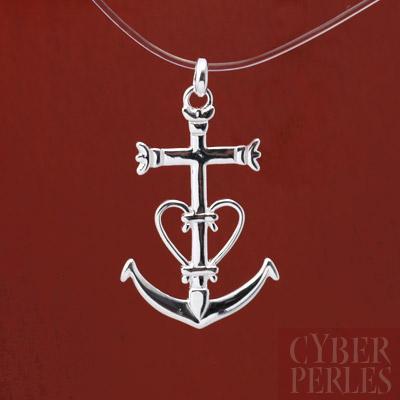 60b74f77c55 Pendentif croix camarguaise en argent 925 (AR172) - Cyberperles