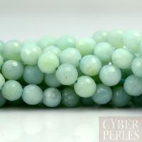 Perles en amazonite facettée - 6 mm
