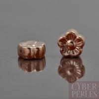 Perle de Bali en vermeil rose - fleur