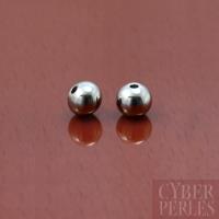 Perles rondes en acier inoxydable - 4 mm