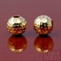Perle ronde dorée 8 mm