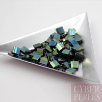 Miyuki Tila - perles 2 trous - vert iris métallique