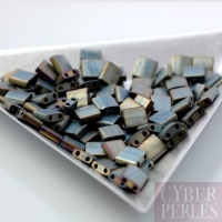 Miyuki Tila - perles 2 trous - gris argent mat