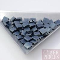 Miyuki Tila - perles 2 trous - bleu gris mat