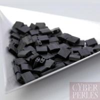 Miyuki Tila - perles 2 trous - noir mat