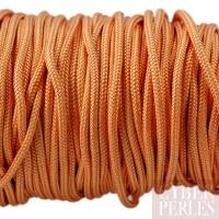 Cordon en tresse de soie 2,5 mm - abricot