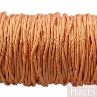 Cordon en tresse de soie 1,5 mm - abricot