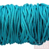 Cordon en tresse de soie 2,5 mm - turquoise