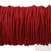 Cordon en tresse de soie 2,5 mm - rouge foncé