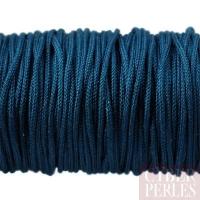 Cordon en tresse de soie 1,5 mm - bleu navy