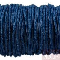 Cordon en tresse de soie 2,5 mm - bleu marine