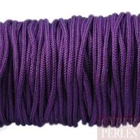 Cordon en tresse de soie - violet