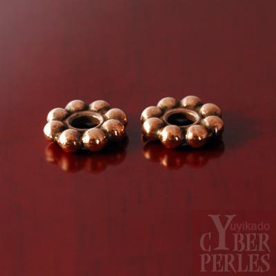 Perle intercalaire cuivree
