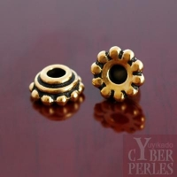 Perle caps dorée - large trou