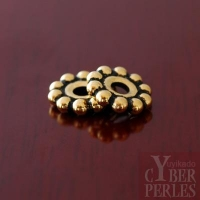 Perle intercalaire dorée