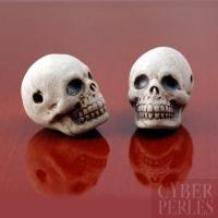 Perle en céramique - tête de mort