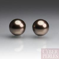 Perles Swarovski nacrées 5810 - Crystal Brown 8 mm
