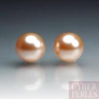 Perles Swarovski nacrées 5810 - Crystal Peach 8 mm