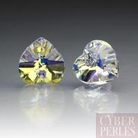 Pendentif coeur Swarovski 6202 - Crystal AB 10,3x10 mm