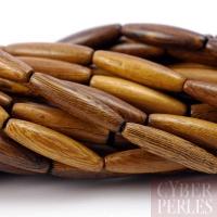 Perle tube olive en bois de Roblès