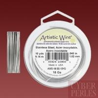 Artistic wire - 1,02 mm - acier inoxydable
