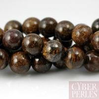 Perle ronde en bronzite - 10 mm