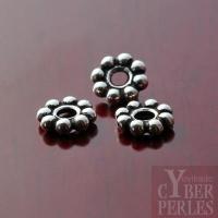 Perle intercalaire argentée