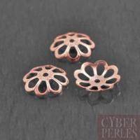 Perle caps  filigree en vermeil rose - 8,8 mm