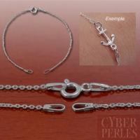 Chaine base bracelet en argent rhodié
