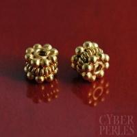 Perle de Bali en vermeil - intercalaire