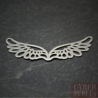 Sterling silver charm link - wings