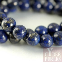Perle ronde en lapis lazuli 12 mm