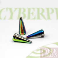 Perle spike en verre tchèque - crystal vitrail