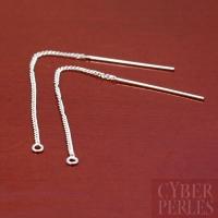 Chainettes d'oreilles en argent avec anneau