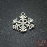 Breloque en argent 925 - flocon de neige