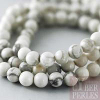 Perles rondes en howlite 4 mm