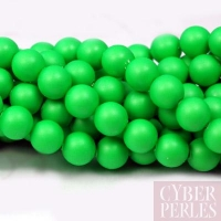 Perles Swarovski nacrées 5810 - Crystal Neon Green 6 mm