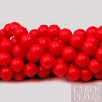 Perles Swarovski nacrées 5810 - Crystal Neon red 6 mm