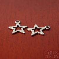 Breloque étoile ajourée en acier inoxydable