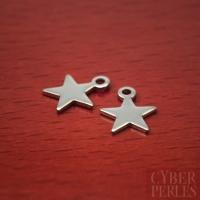 Breloque étoile en acier inoxydable