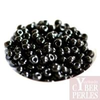 Perles tchèques en verre - noir