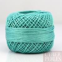 Coton perlé taille 8 turquoise vert - 80 m