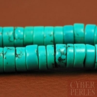 Perles rondelles en turquoise de Hubei
