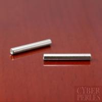 Perle tube droit en argent 925 - 15 x 2 mm