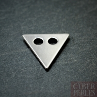 Sterling silver 2 holes charm - triangle