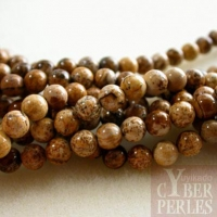 Perles en Jaspe paysagé 4 mm