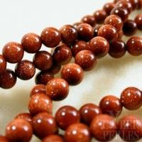 Perles en pierre de soleil - 4 mm