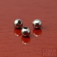Perles rondes en acier inoxydable - 3 mm