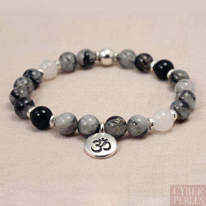 exemple bracelet lastique quartz tourmaline aum cyberperles. Black Bedroom Furniture Sets. Home Design Ideas