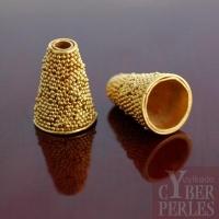 Perle de Bali en vermeil - cône